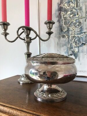 Silver Plated Rose Bowl Large