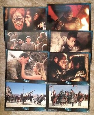 Planet of the Apes- 8 Gloss Original Lobby Card Set - Mark Wahlberg Film 2001