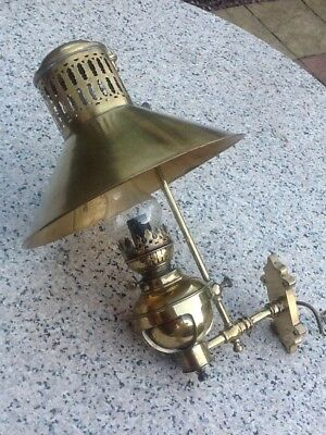 Antique Large Wall oil lamp Converted To Electric
