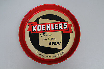 Koehler Beer Serving Tray Bar Pub Advertising Vintage 1950's Erie Brewing RARE