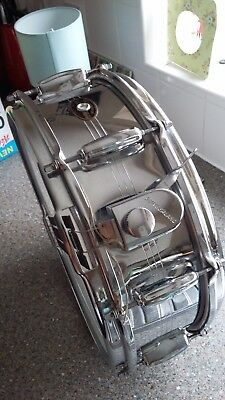 vintage Slingerland Snare Drum Gene Kruper Chrome over brass 5x14