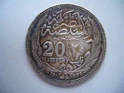 Egypt, 1917.  20 Piastres ,Extremely Fine Condition,..  40 mm [77]