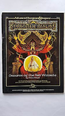 """FORGOTTEN REALMS """"DREAMS Of The RED WIZARDS"""" Complete with map AD&D TSR #9235VNC"""