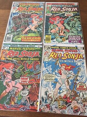 Marvel Feature Red Sonja Comic Lot
