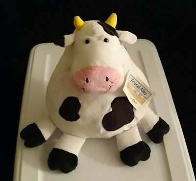 """Animal Alley Large Soft Fat Cow Stuffed Toy 13""""x10"""""""