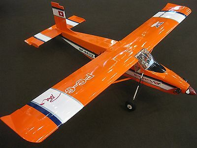 RC 1:9 EP GP PILATUS PC-6 TURBO PORTER 1640 mm ARF Elektro Verbrenner orange