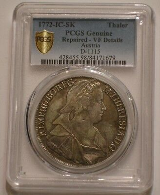 1772 Silver Thaler of Austria PCGS VF Details in Secure Shield Holder