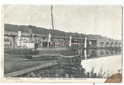 Ireland Co. Waterford 'Ness Queen' at Bridge Cappoquin Vintage Postcard