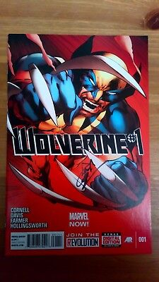 Wolverine Vol.5 #1 SIGNED BY PAUL CORNELL VF/NM (MARVEL NOW)
