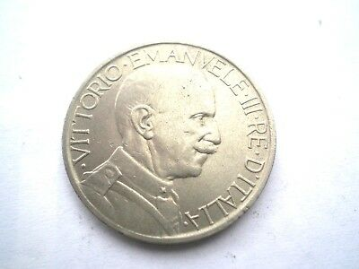 EARLY 2 LIRA COIN FROM ITALY-DATED 1925-nice