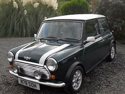 1996 CLASSIC MINI COOPER 1.3i SPI  - BRITISH RACING GREEN WITH WHITE ROOF
