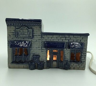 Rare HTF Rowe Pottery Works WI Village Rowe Pottery Building Replica