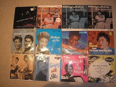 """ELLA FITZGERALD. COLLECTION OF 11 x 7"""" EP,s. 1 X 7"""" SINGLE"""