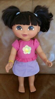 """Dora the Explorer 15"""" Large doll Dress up with clothes"""