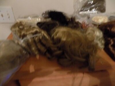 Lot 30+  Doll Wigs and hair pieces see Description