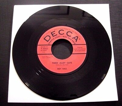 Roy Hall - Three Alley Cats / Diggin' The Boogie - Great Repro Jukebox 45 Rpm