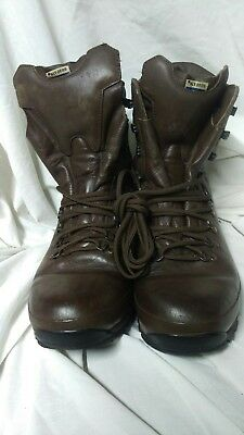 ALT-BURG British Military Issue Brown Leather Boots Sz 10M Army Cadet MTP
