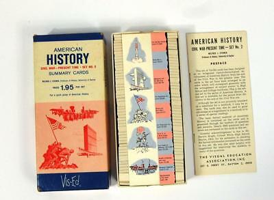 American History II Summary Cards Learning Flash Aid Vintage civil war to 1960?