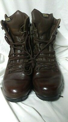 ALT-BURG British Military Issue Brown Leather Boots Sz 9M Army Cadet MTP