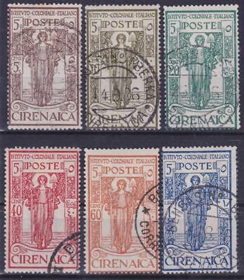 ITALIAN COLONIES CYRENAICA 1926 Colonial Institute set Used B14285