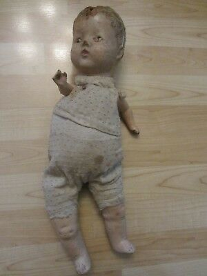 Creepy Old Doll Halloween Prop 16-17 inches Tall
