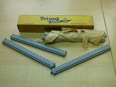 Vintage Triang Ships Minic M827 6 x Breakwater straights in original trade box