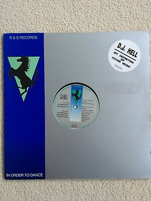 """DJ Hell My Definition of House Music 12"""" R&S Records 1992 N. Mint Condition RARE"""