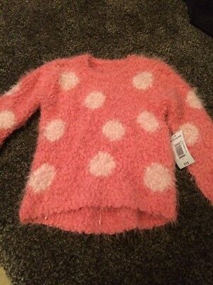 Bnwt Girls Fluffy Jumper From Matalan Size 18-24 Months *will Combine Postage *