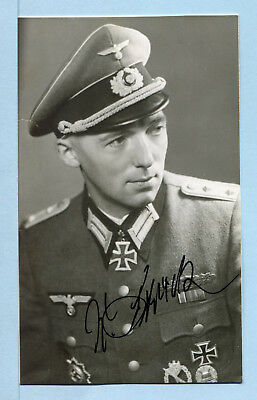Infantry Knights Cross Winner Signed Photo - Streck