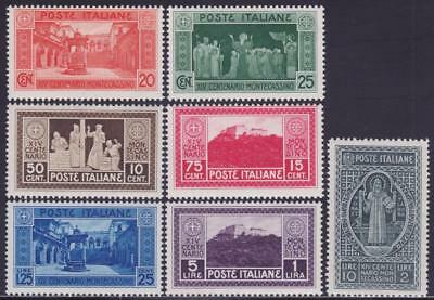 ITALY 1929 Montecassino set 7v MNH Fresh B14362