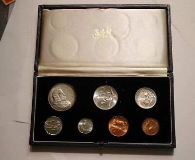 1965 PROOF SET of South Africa superb Gem in original Box with Silver