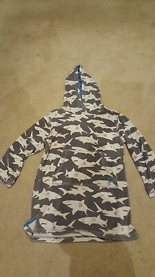 Boys Mini Boden Towelling Beach Hoodie Robe Age 7-8