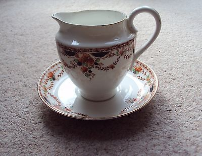 Vintage Bone China Jug Cream or Milk & Matching Saucer by Royal Osborne VGC
