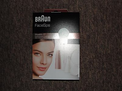 Braun FaceSpa 851V 3-in-1 Facial Epilator For Hair Removal BNIB Sealed New