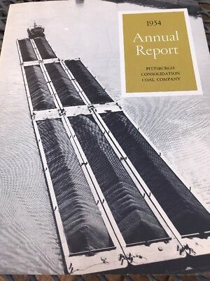 1954 Annual Report Pittsburgh Consolidation Coal Company