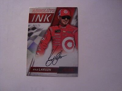 2017 Panini Absolute Racing Kyle Larson Absolute Ink Autograph (Red) #17/25 L@@k