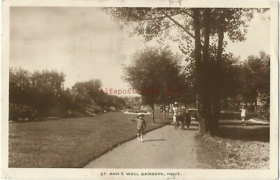 Sussex Hove St Anns Well Gardens 1931 Real Photo Vintage Postcard