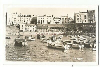 Wales Tenby The Harbour 1963 Real Photo Vintage Postcard