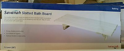 "BNIB 'Homecraft' Savanah Slatted Bath Board, 28"" across"