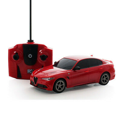Alfa Romeo Giulia Quadrifglio Red RC Radio Remote Controlled Car Scale 1.24 Gift