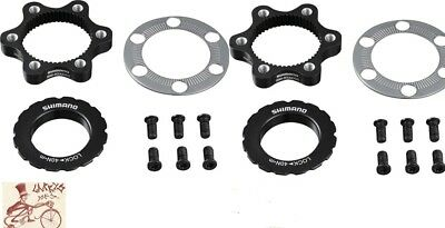 Shimano SM-RTAD05 Centerlock To 6-Bolt Disc Rotor Adapter Kit 1-Pack or 2-Pack