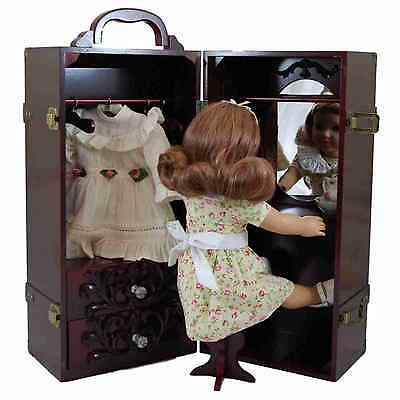 """Storage Trunk Case, Hanger For 18 """" Inch American Girl Doll Clothes MA FCTRY 2ND"""