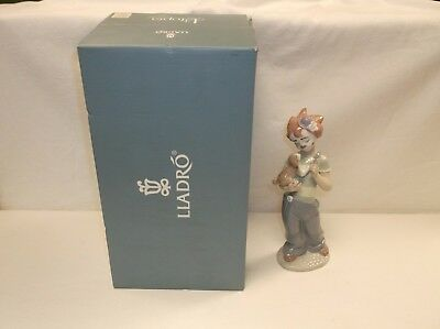 Lladro Utopia 8237 Stage Partners Clown With Puppy Figurine W/Box Excellent!