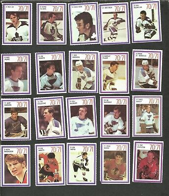 1970-71 Esso Nhl Power Players Lot Of 20: Toronto Maple Leaf, St. Louis, Chicago