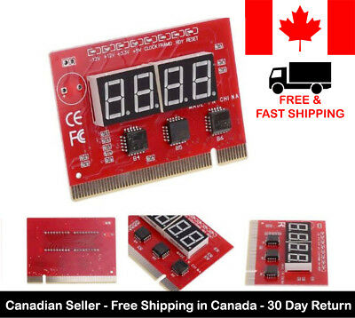 New 4 Digit Bit Motherboard Tester PC Analyzer Diagnostic Computer PCI POST Card
