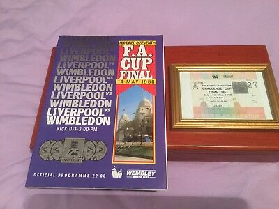 FA Cup Final Ticket And Programme 1988 - Liverpool vs Wimbledon