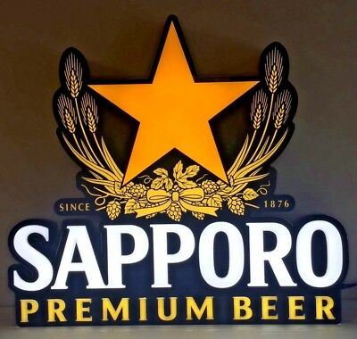 """Sapporo Premium Beer LED Sign Opti Neon ~ LED - NEW in BOX ~ 22.5"""" X 20.5"""""""