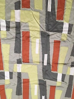 """Vintage ca. 1960 Payne and Co. Imported fabric 52"""" x 46"""" atomic eames era MCM"""