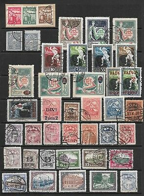 Latvia. 1919-1925. Mainly Used Collection Of 50+ Stamps On 2 Scans.