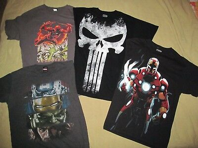 Lot of 4 Marvel T shirts RARE Daredevil, Avengers, Iron Man, Punisher L Large